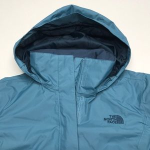 🆕 NORTH FACE Women's Blue Waterproof Hiking Coat